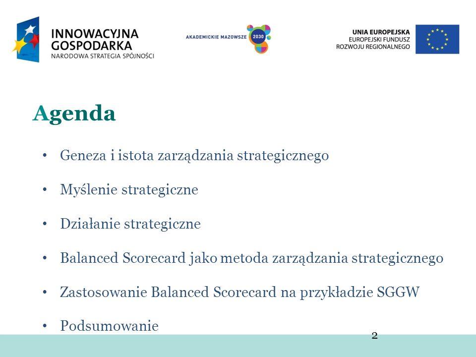 Agenda Geneza i istota zarządzania strategicznego