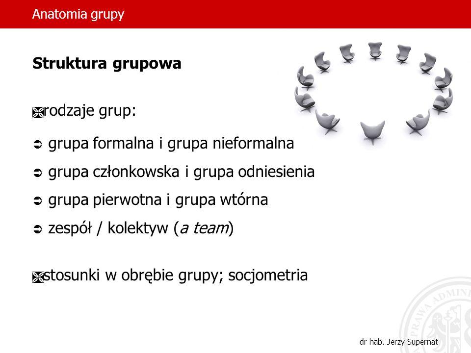 grupa formalna i grupa nieformalna