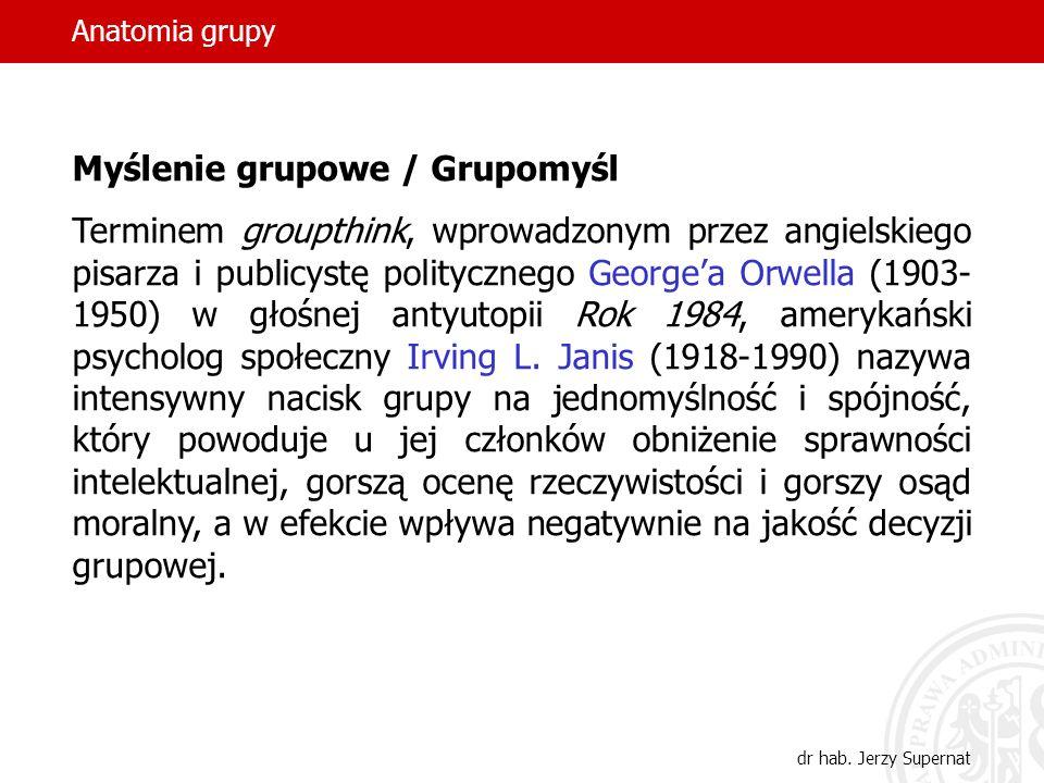 Myślenie grupowe / Grupomyśl
