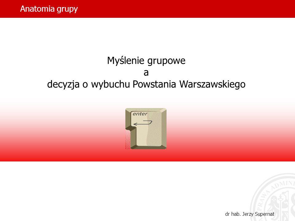 Myślenie grupowe a decyzja o wybuchu Powstania Warszawskiego