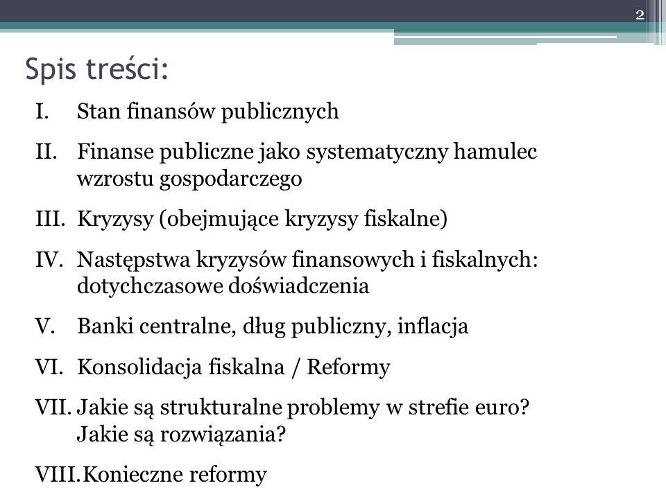 Spis treści: Stan finansów publicznych