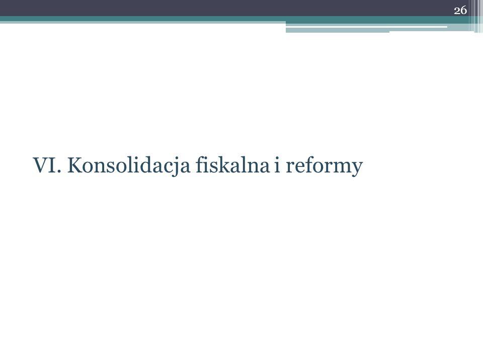 VI. Konsolidacja fiskalna i reformy