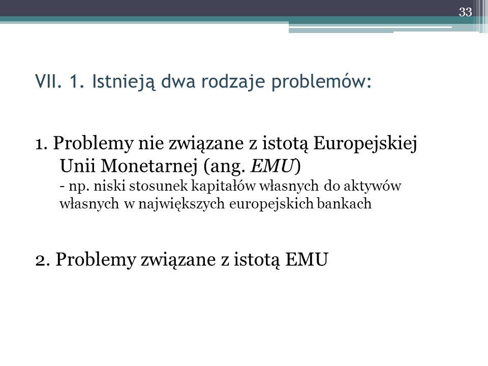 VII. 1. Istnieją dwa rodzaje problemów: