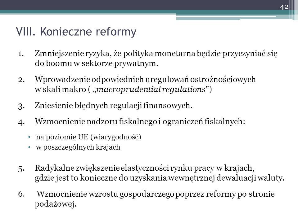 VIII. Konieczne reformy