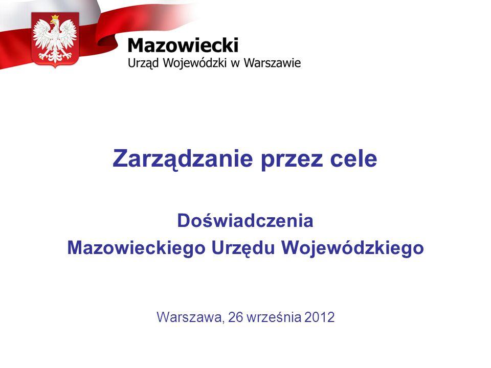 Zarządzanie przez cele Mazowieckiego Urzędu Wojewódzkiego