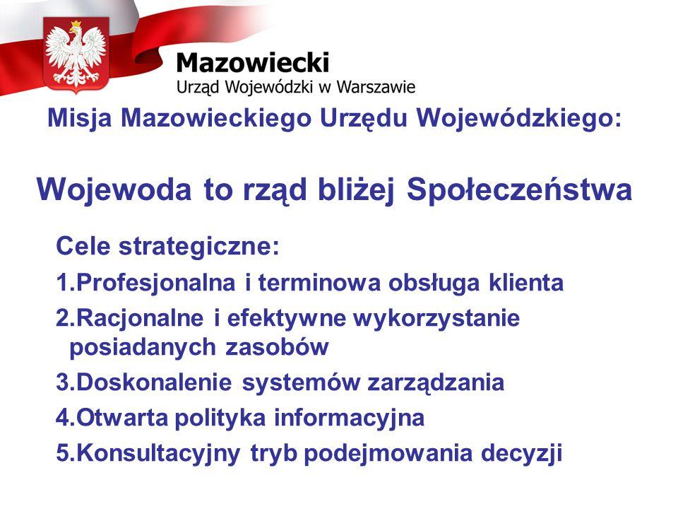Misja Mazowieckiego Urzędu Wojewódzkiego: Wojewoda to rząd bliżej Społeczeństwa