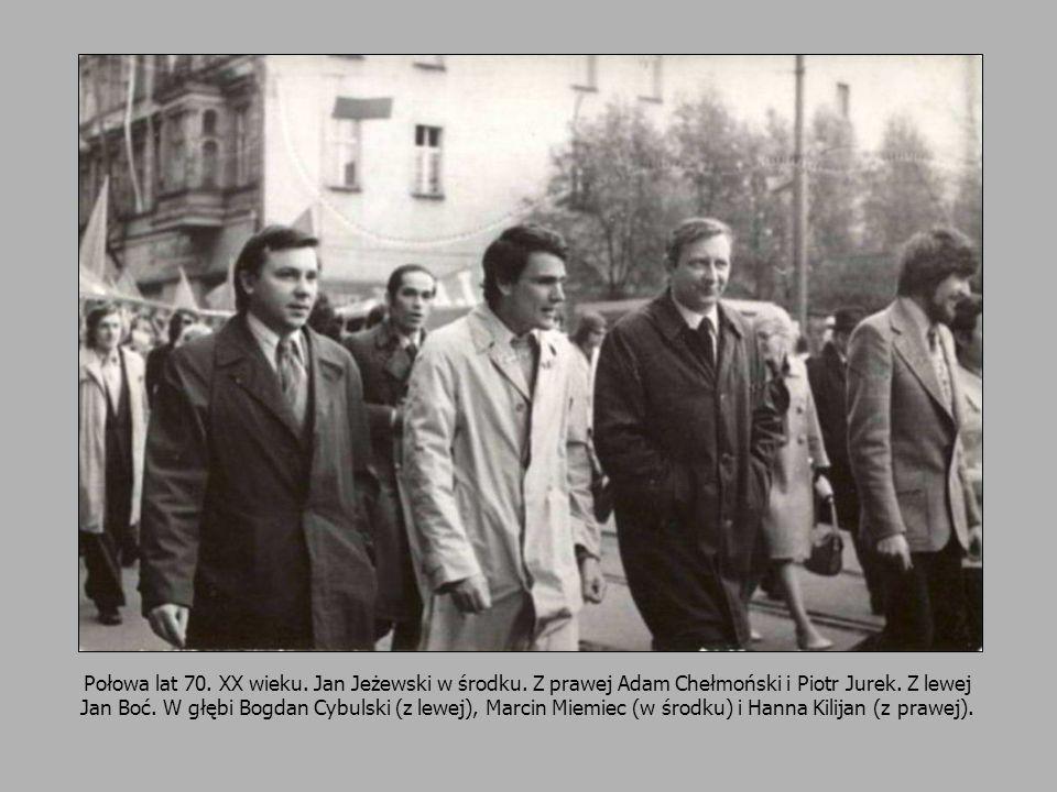 Połowa lat 70. XX wieku. Jan Jeżewski w środku