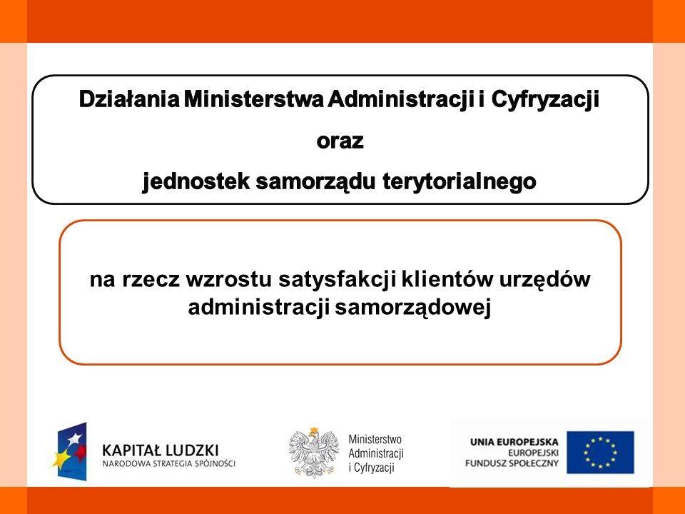 Działania Ministerstwa Administracji i Cyfryzacji oraz