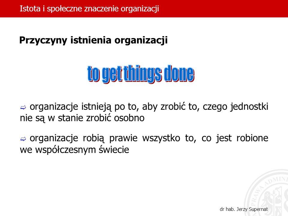 Istota i społeczne znaczenie organizacji