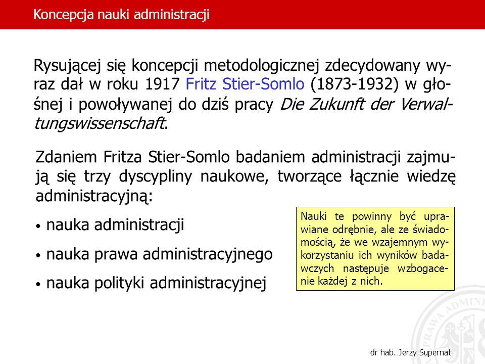 nauka prawa administracyjnego nauka polityki administracyjnej