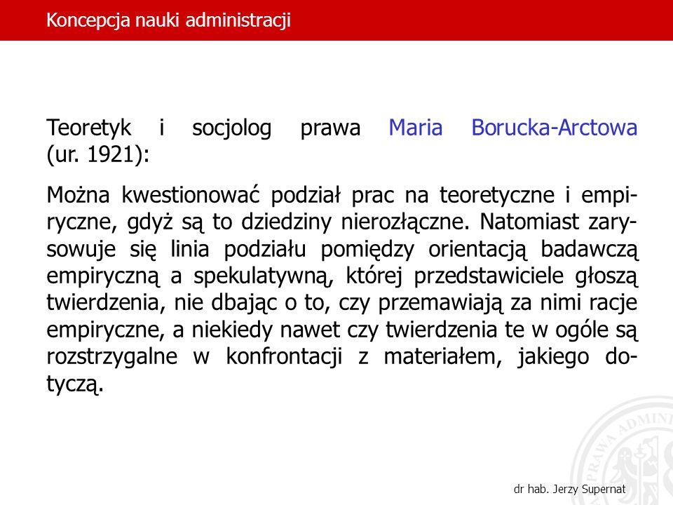 Teoretyk i socjolog prawa Maria Borucka-Arctowa (ur. 1921):