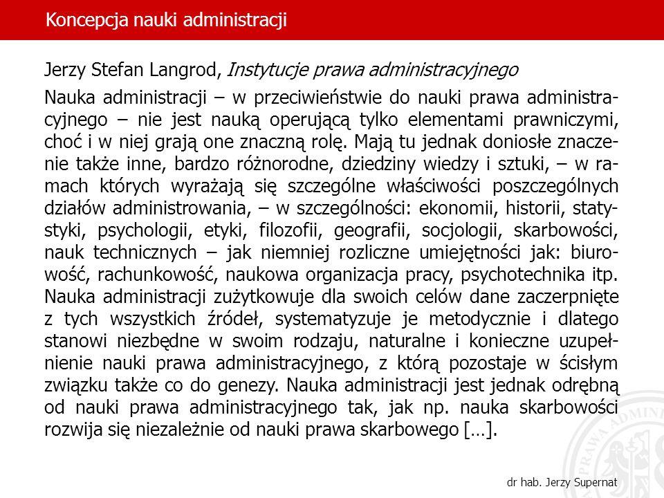 Koncepcja nauki administracji