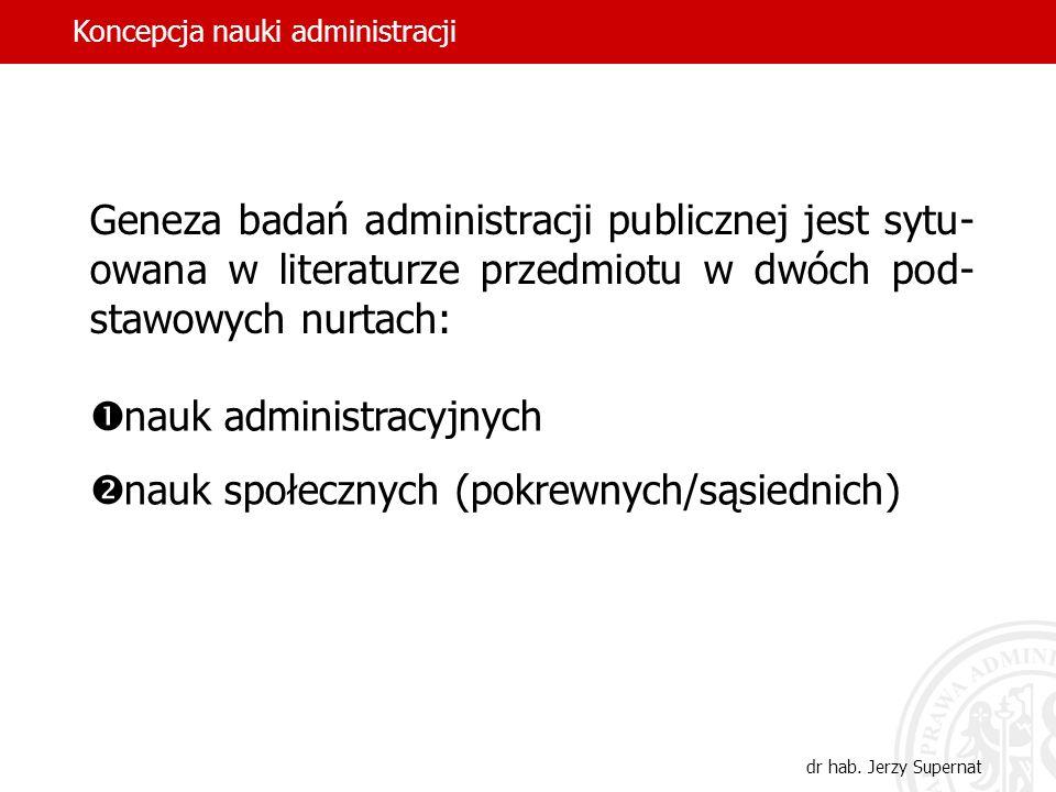 nauk administracyjnych nauk społecznych (pokrewnych/sąsiednich)