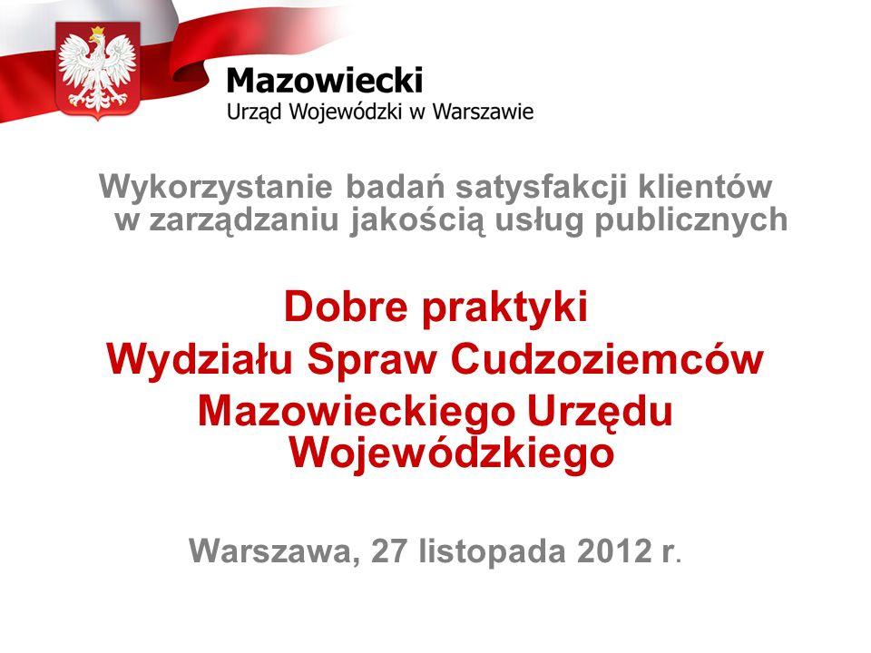Wydziału Spraw Cudzoziemców Mazowieckiego Urzędu Wojewódzkiego