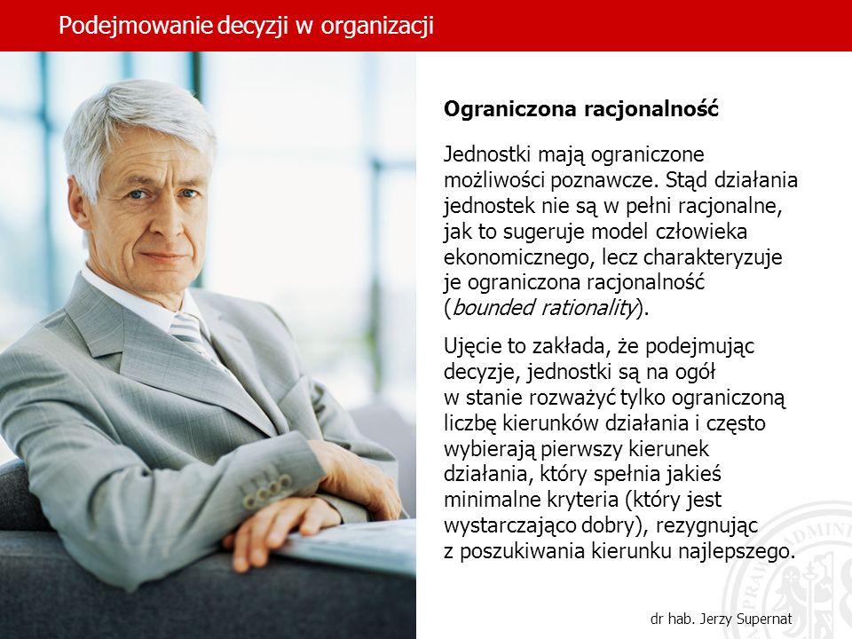 Podejmowanie decyzji w organizacji