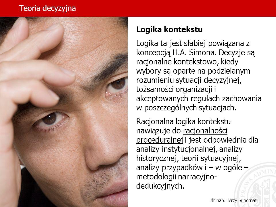 Teoria decyzyjna Logika kontekstu