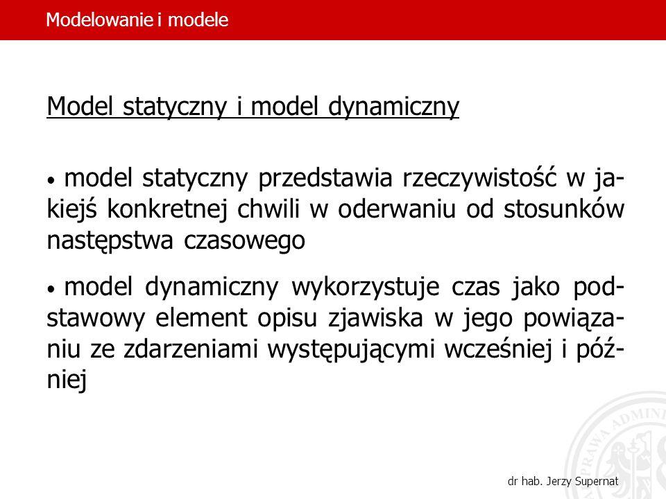 Model statyczny i model dynamiczny