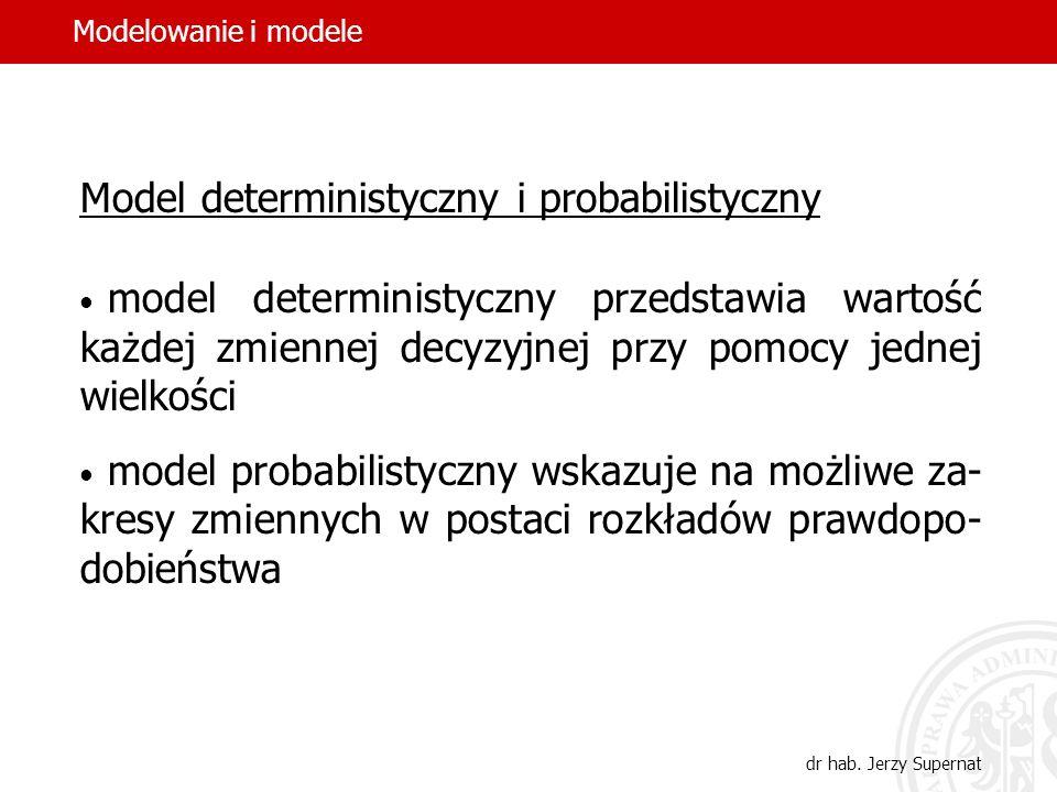 Model deterministyczny i probabilistyczny