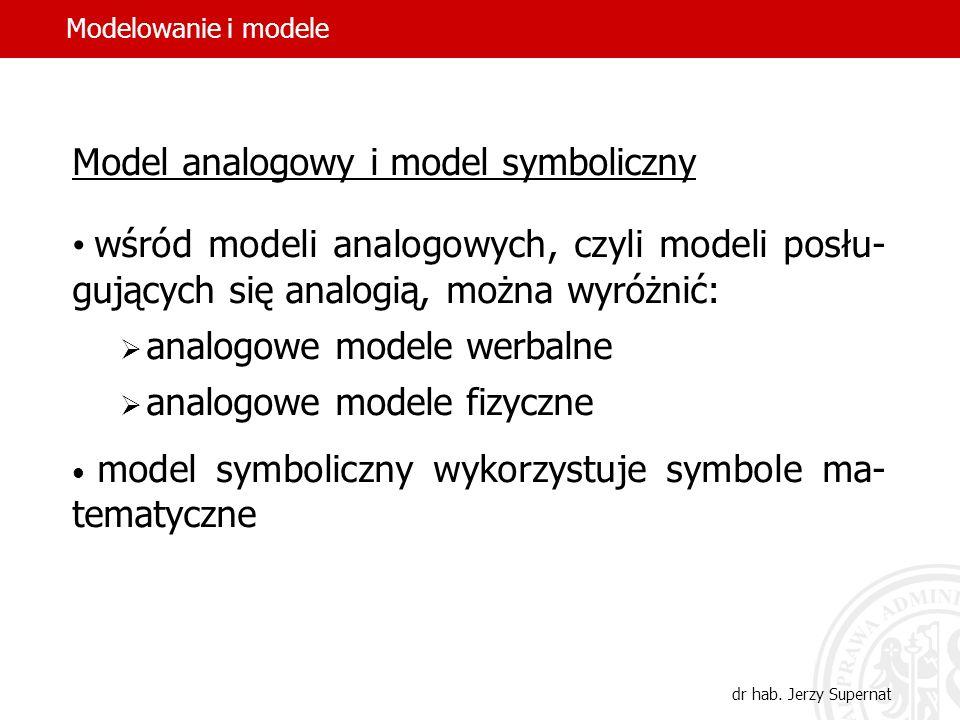 Model analogowy i model symboliczny