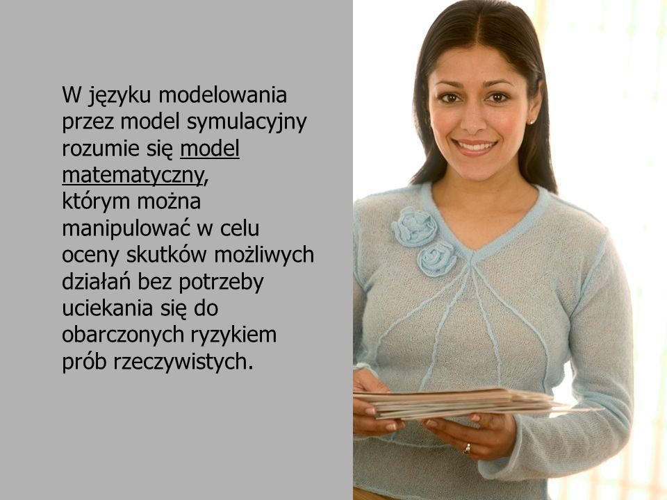W języku modelowania przez model symulacyjny rozumie się model matematyczny,
