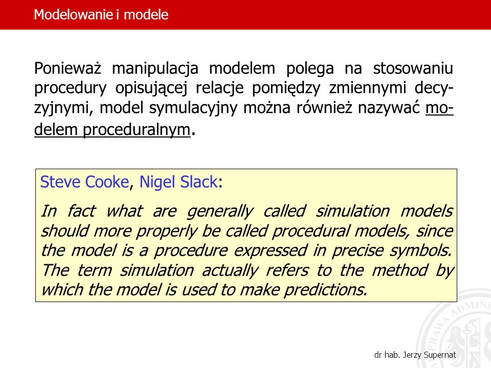 Steve Cooke, Nigel Slack: