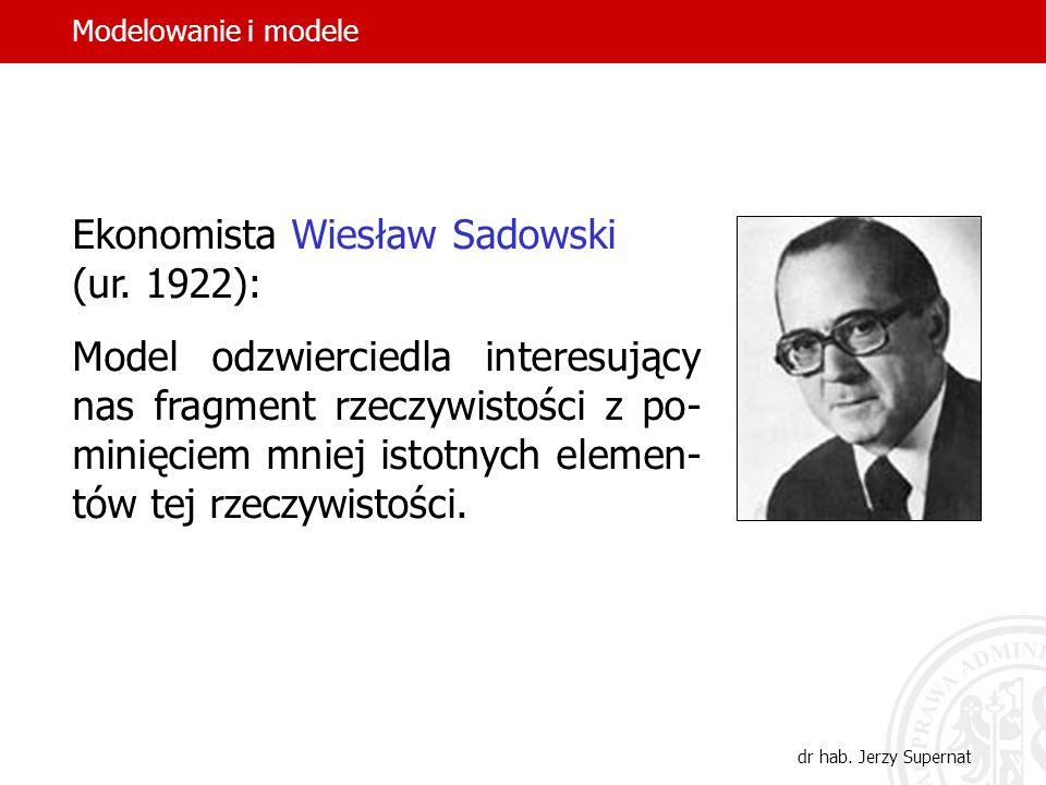 Ekonomista Wiesław Sadowski (ur. 1922):