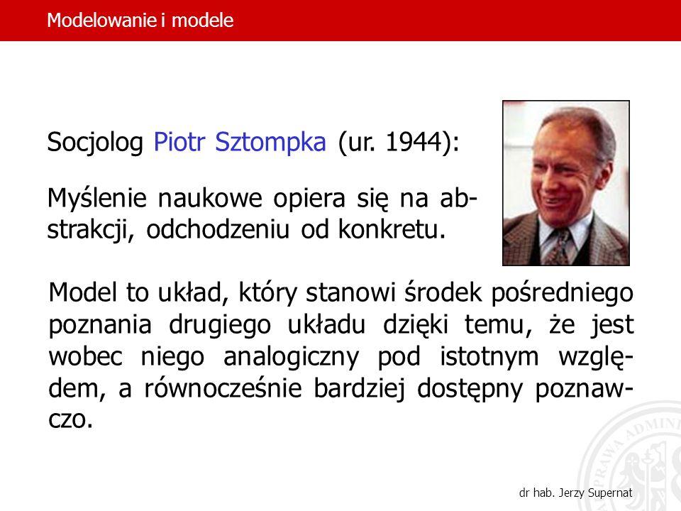 Socjolog Piotr Sztompka (ur. 1944):