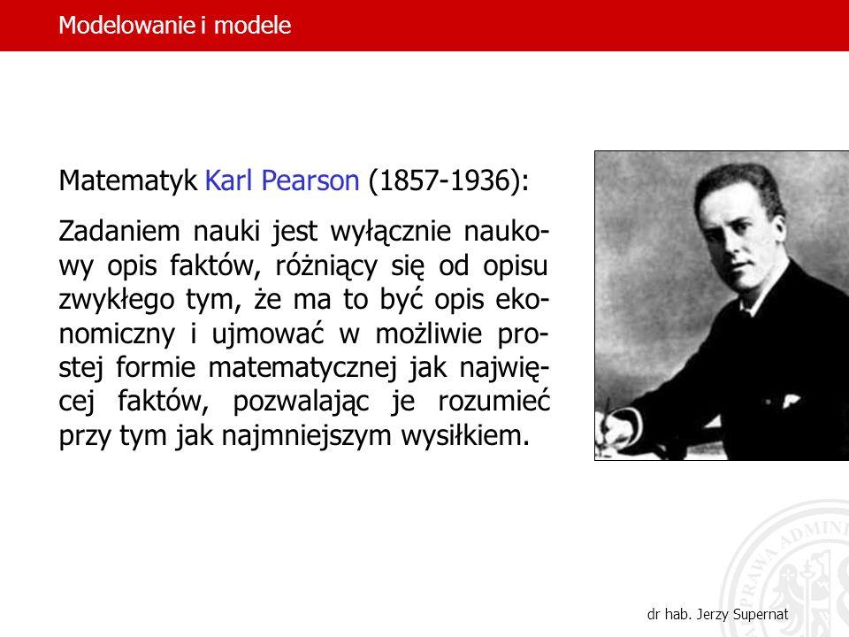 Matematyk Karl Pearson (1857-1936):