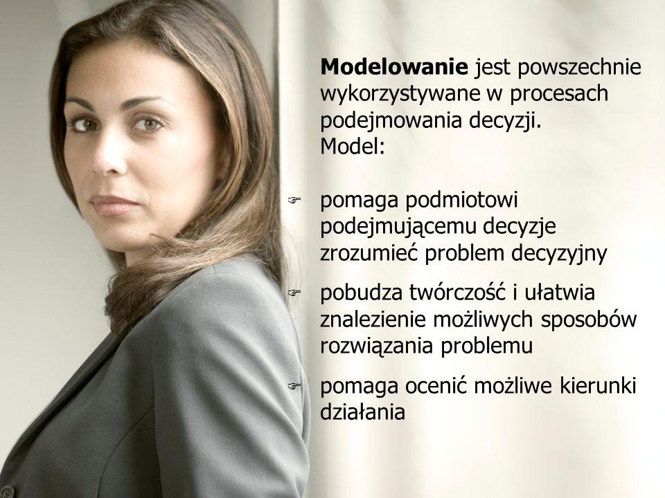 Modelowanie jest powszechnie wykorzystywane w procesach podejmowania decyzji.