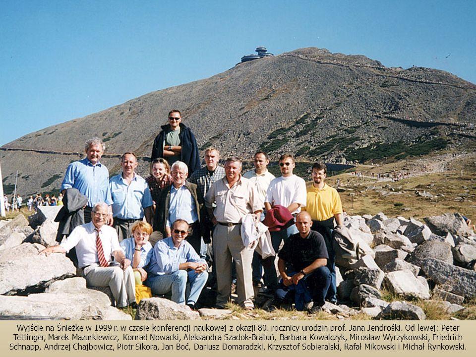 Wyjście na Śnieżkę w 1999 r. w czasie konferencji naukowej z okazji 80