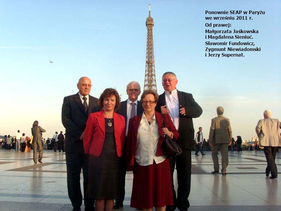 Ponownie SEAP w Paryżu we wrześniu 2011 r. Od prawej: Małgorzata Jaśkowska. i Magdalena Sieniuć.