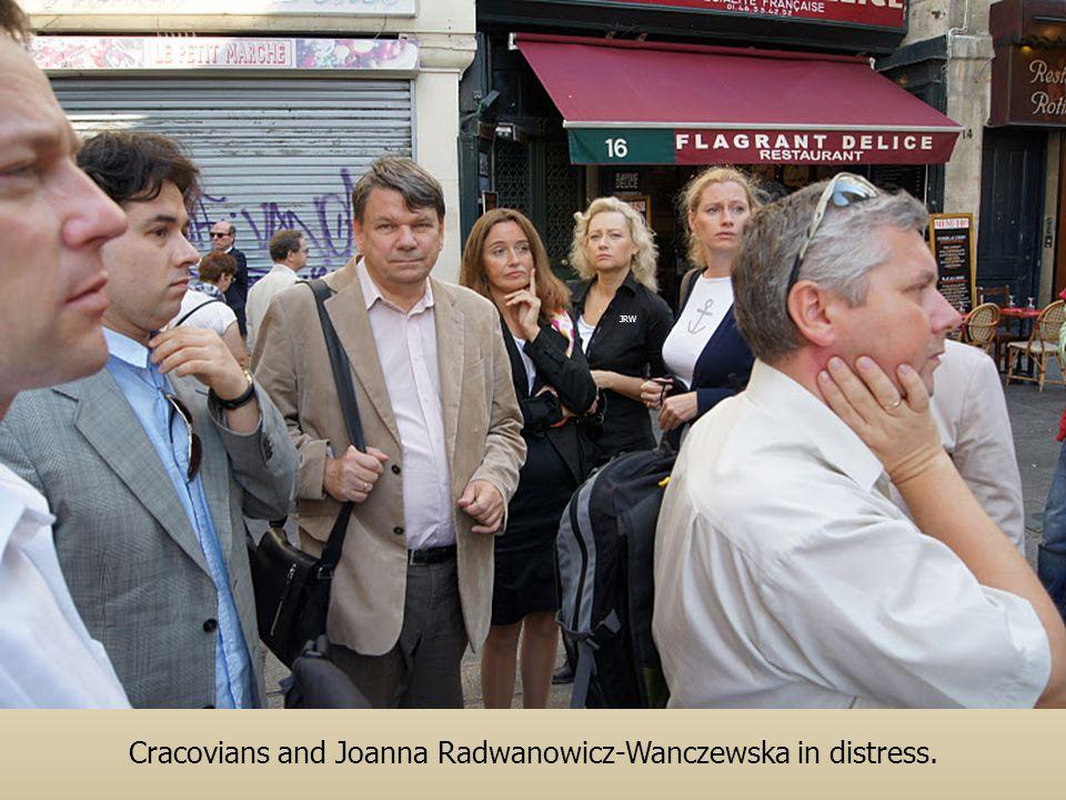 Cracovians and Joanna Radwanowicz-Wanczewska in distress.