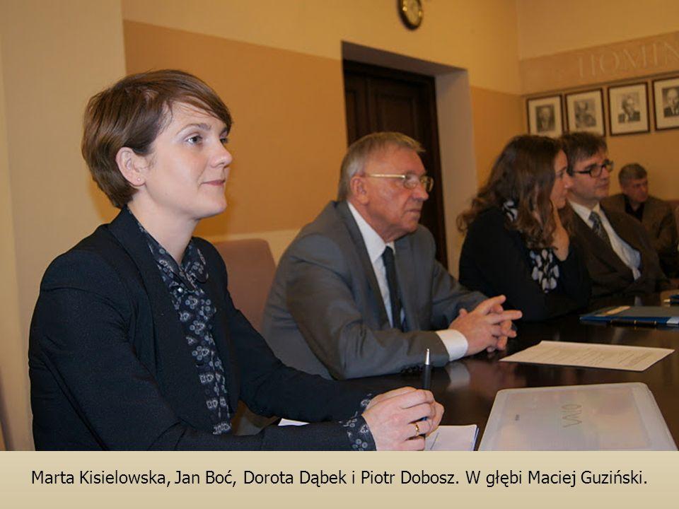 Marta Kisielowska, Jan Boć, Dorota Dąbek i Piotr Dobosz