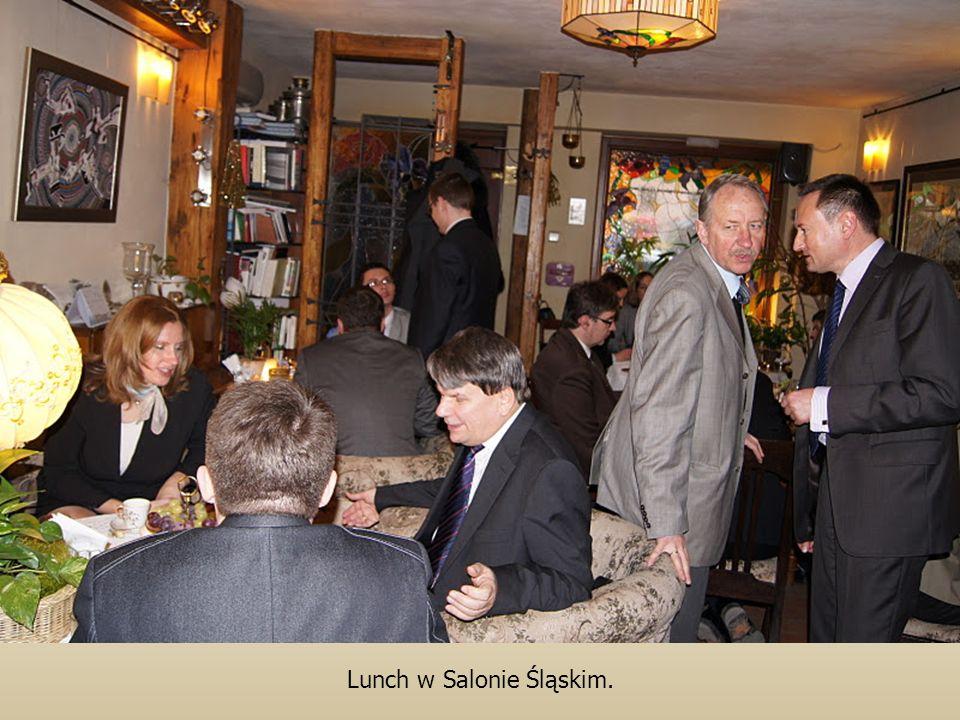 Lunch w Salonie Śląskim.