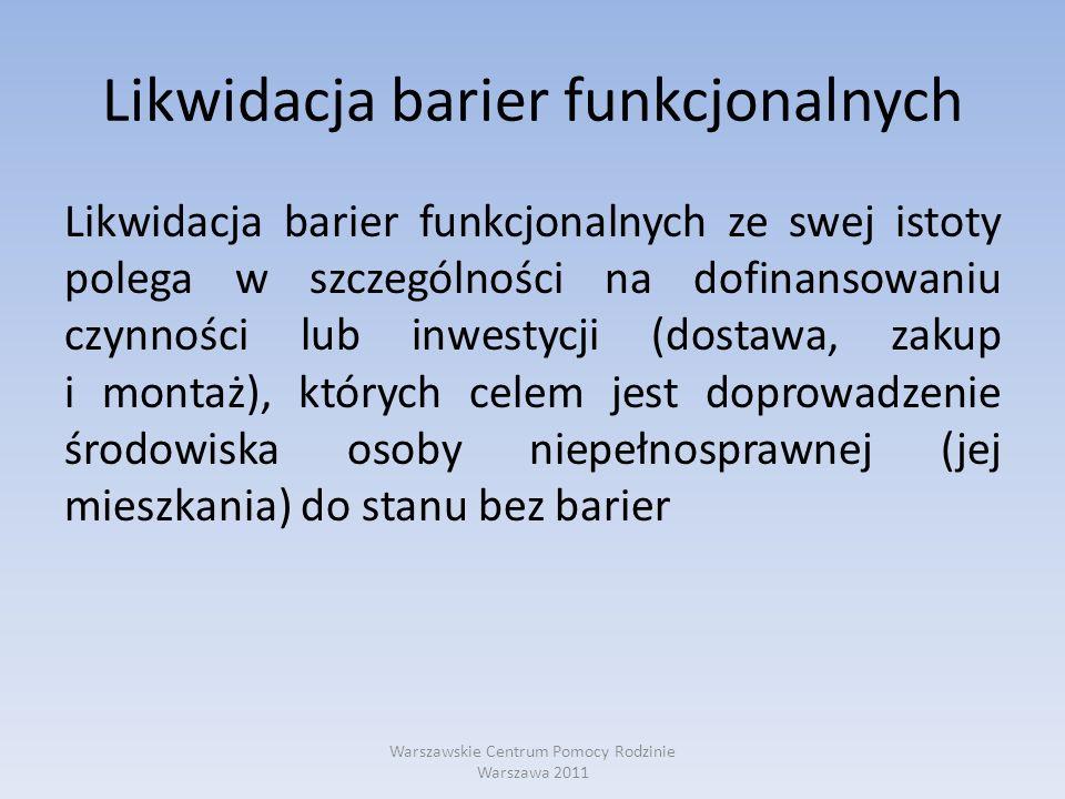 Likwidacja barier funkcjonalnych
