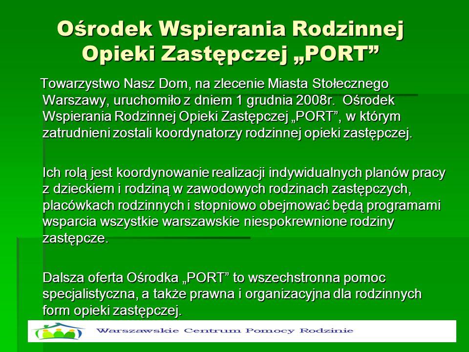 """Ośrodek Wspierania Rodzinnej Opieki Zastępczej """"PORT"""