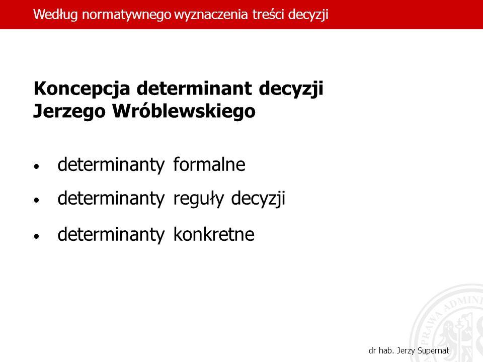 Koncepcja determinant decyzji Jerzego Wróblewskiego