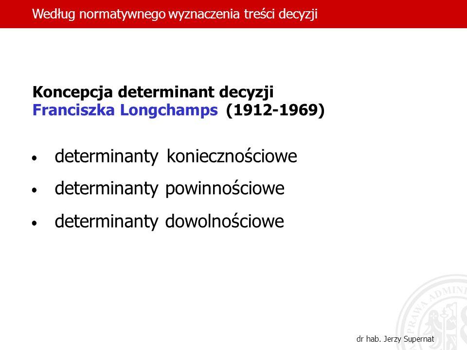 determinanty koniecznościowe determinanty powinnościowe