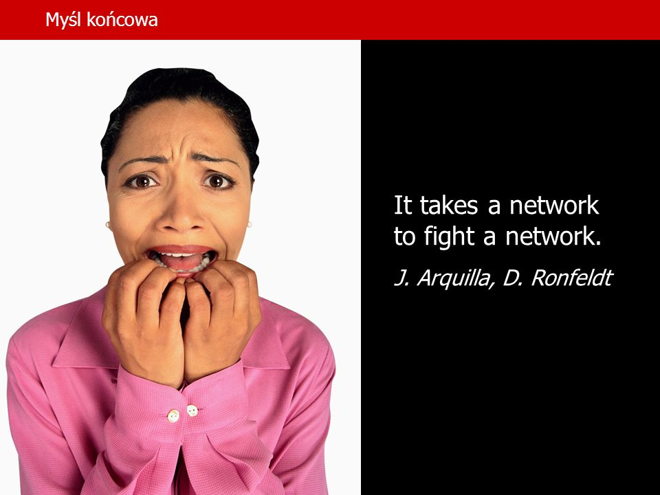 It takes a network to fight a network.