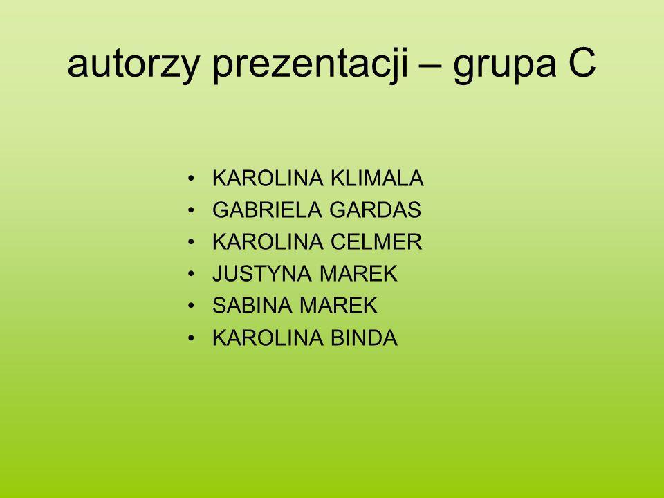 autorzy prezentacji – grupa C