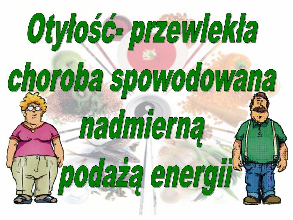 Otyłość- przewlekła choroba spowodowana nadmierną podażą energii