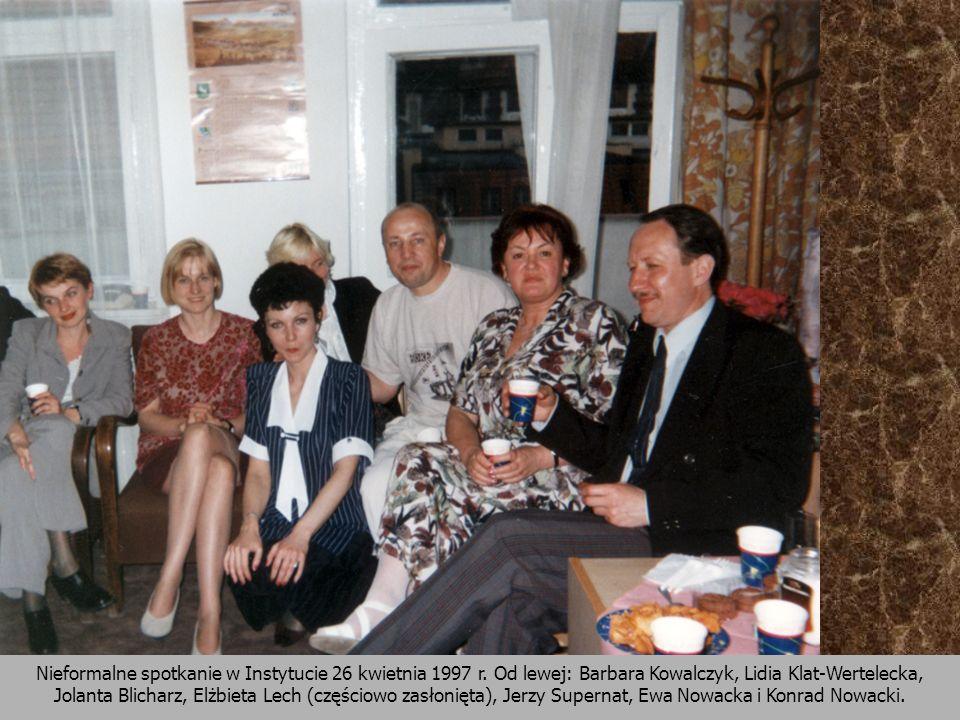 Nieformalne spotkanie w Instytucie 26 kwietnia 1997 r
