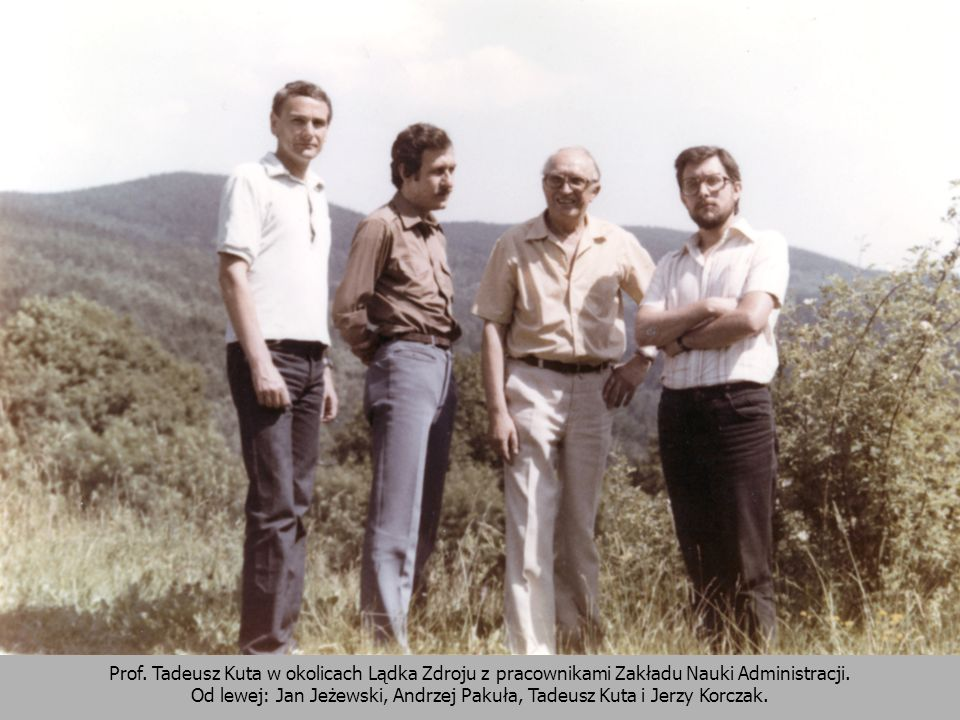 Od lewej: Jan Jeżewski, Andrzej Pakuła, Tadeusz Kuta i Jerzy Korczak.