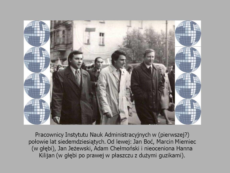 Pracownicy Instytutu Nauk Administracyjnych w (pierwszej