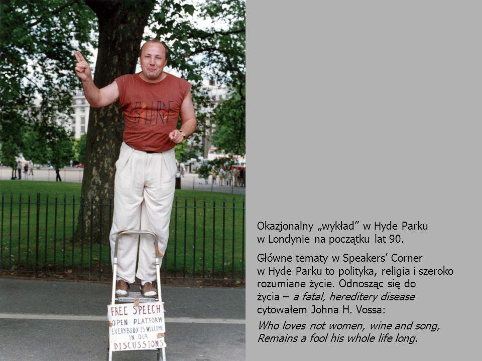 """Okazjonalny """"wykład w Hyde Parku"""