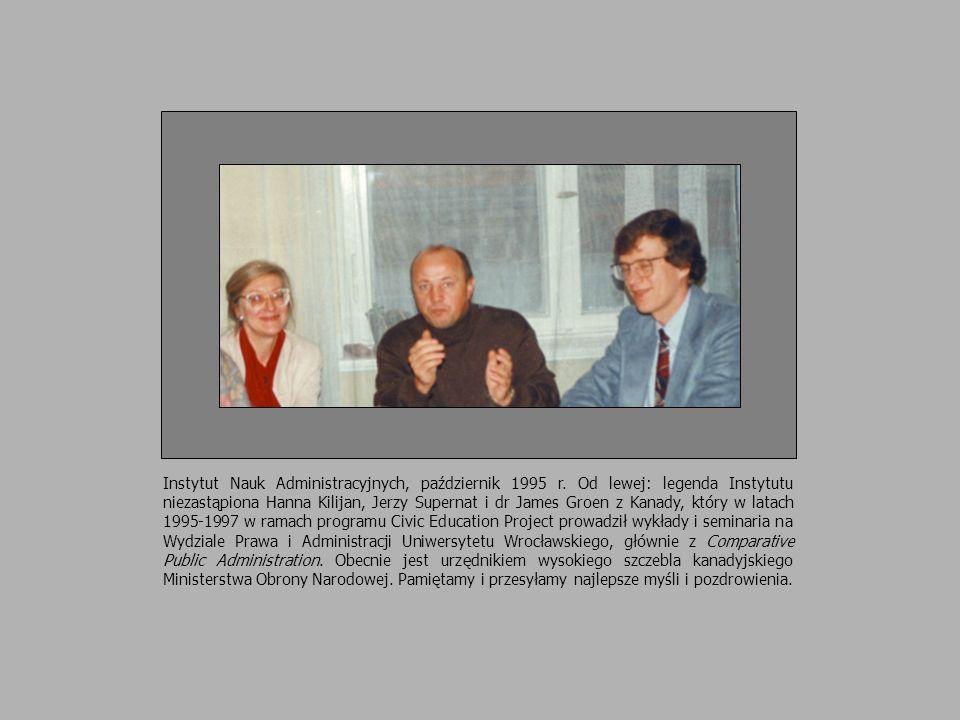 Instytut Nauk Administracyjnych, październik 1995 r