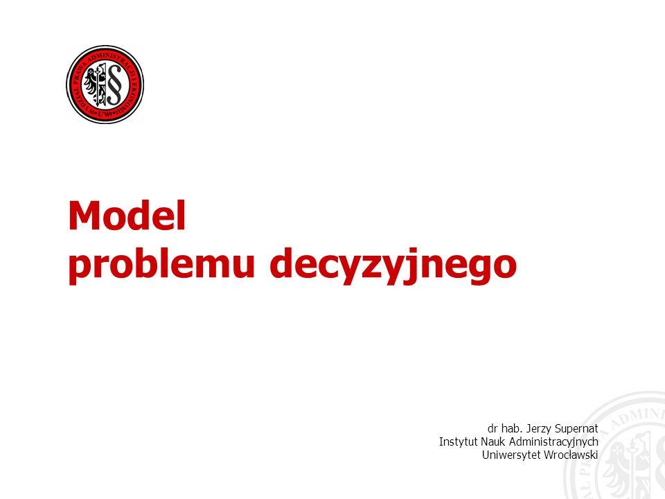 Model problemu decyzyjnego