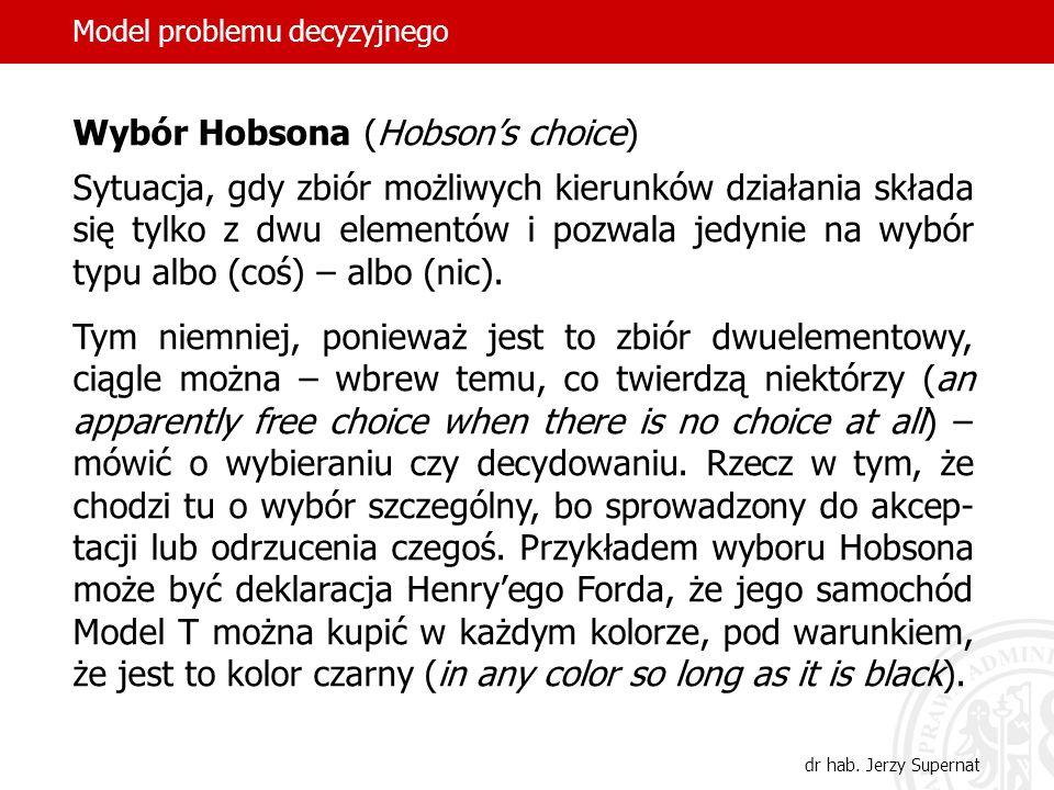 Wybór Hobsona (Hobson's choice)