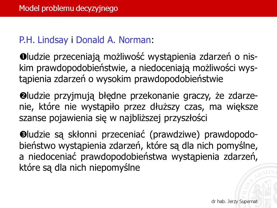 P.H. Lindsay i Donald A. Norman: