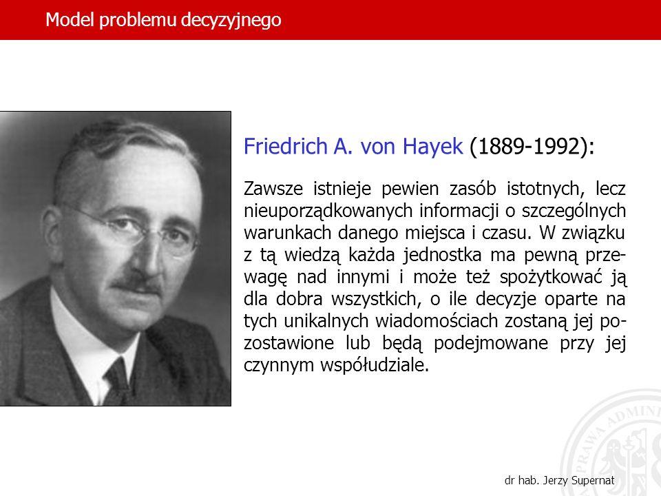 Friedrich A. von Hayek (1889-1992):